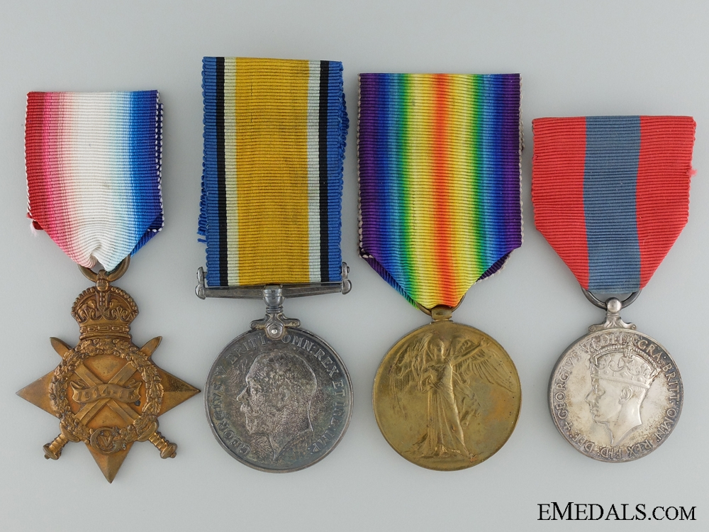 WWI Imperial Service Medal Group to the Canadian Field Artillery