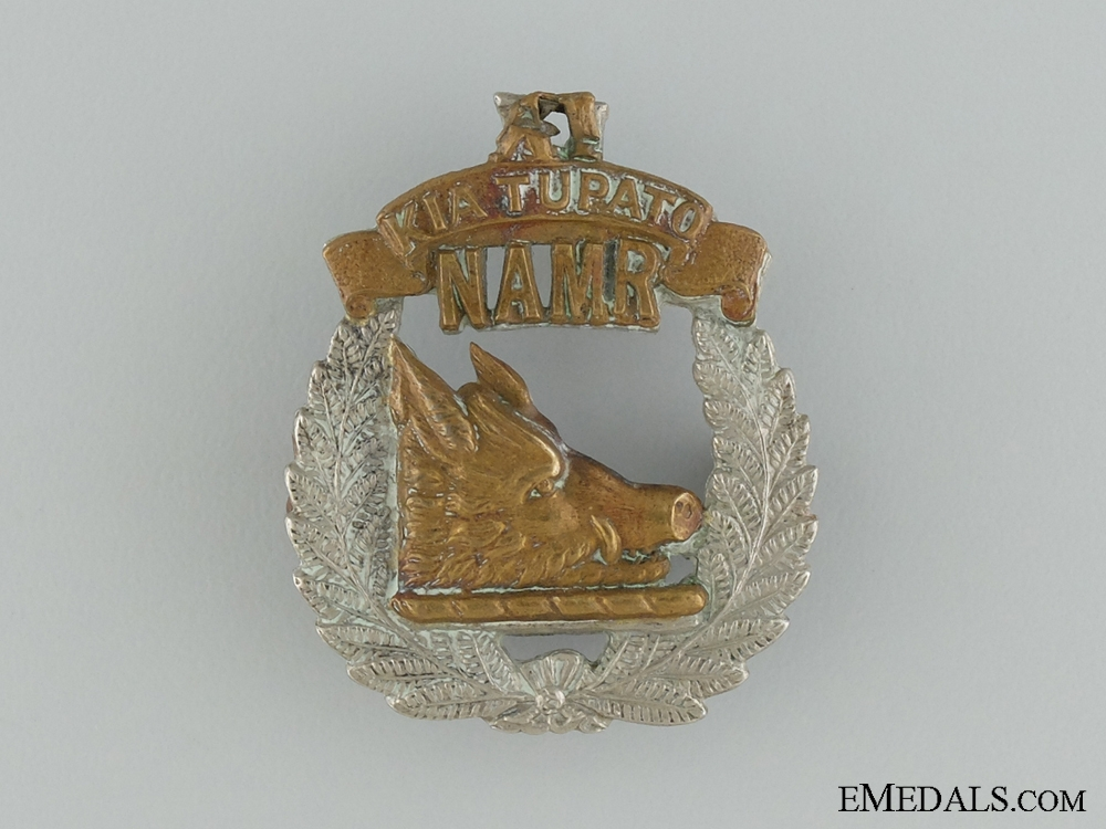 WWI North Auckland Mounted Rifles Cap Badge