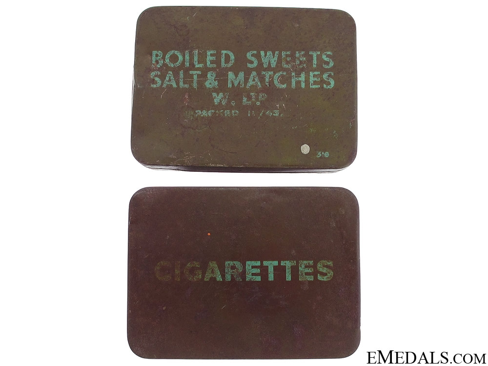 WWII Boiled Sweets Salt & Cigarettes Tin