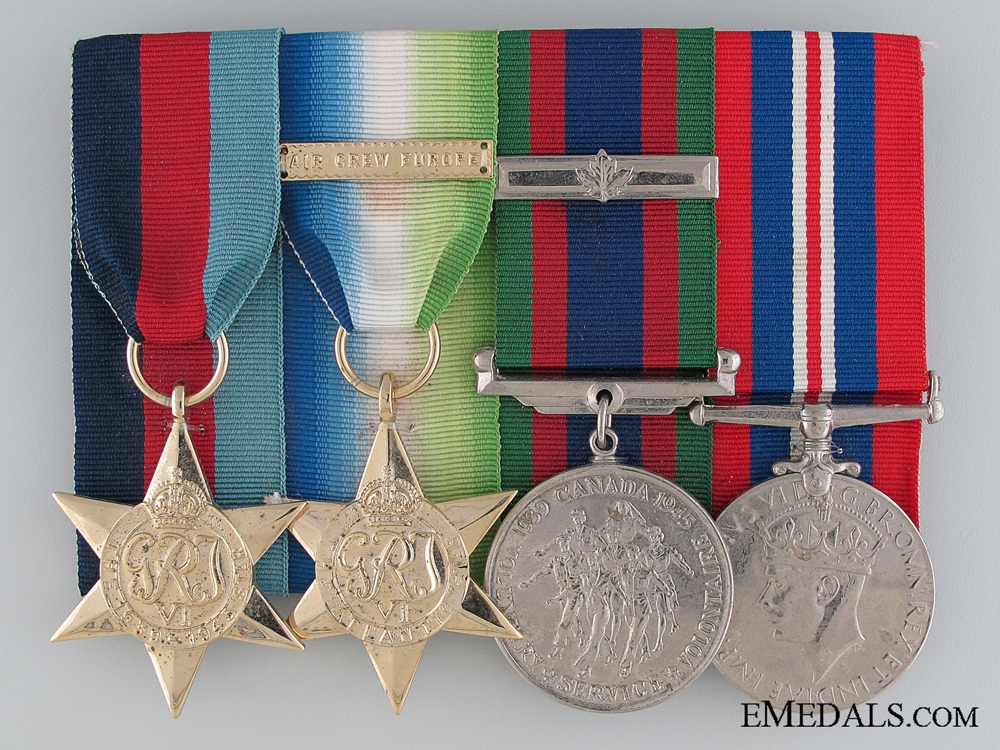 WWII Canadian Medal Group of Four