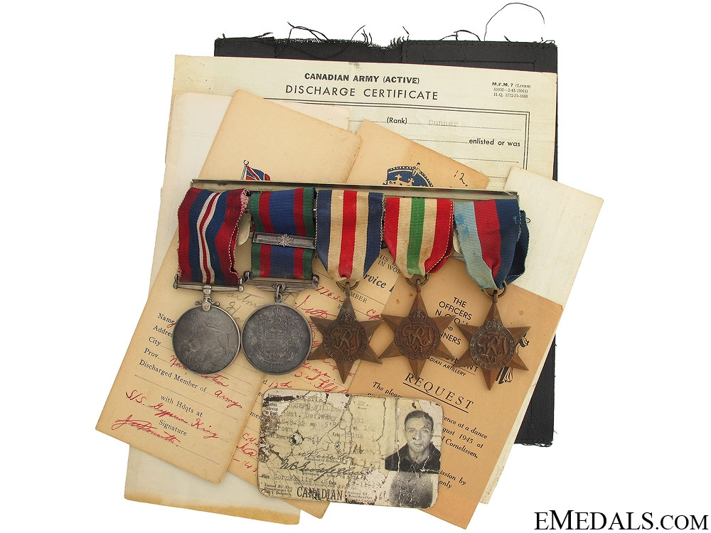 WWII Group of Five to Gunner Joseph W. Doucette