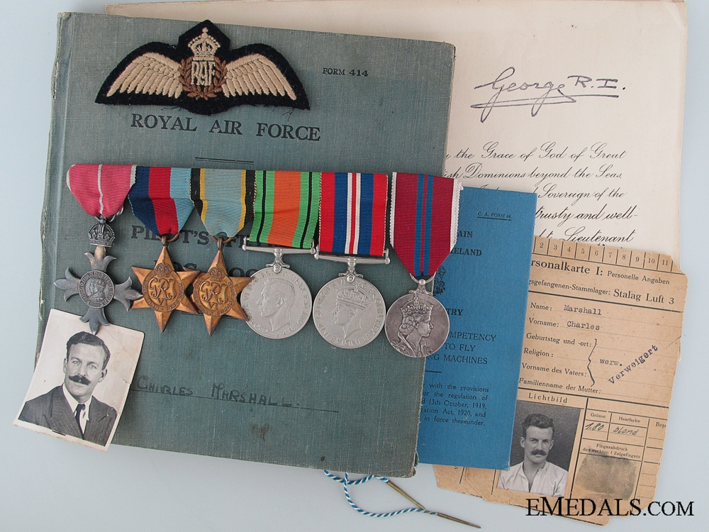 WWII RAF BEM Group to a Four Times Stalag Luft. III Escapee