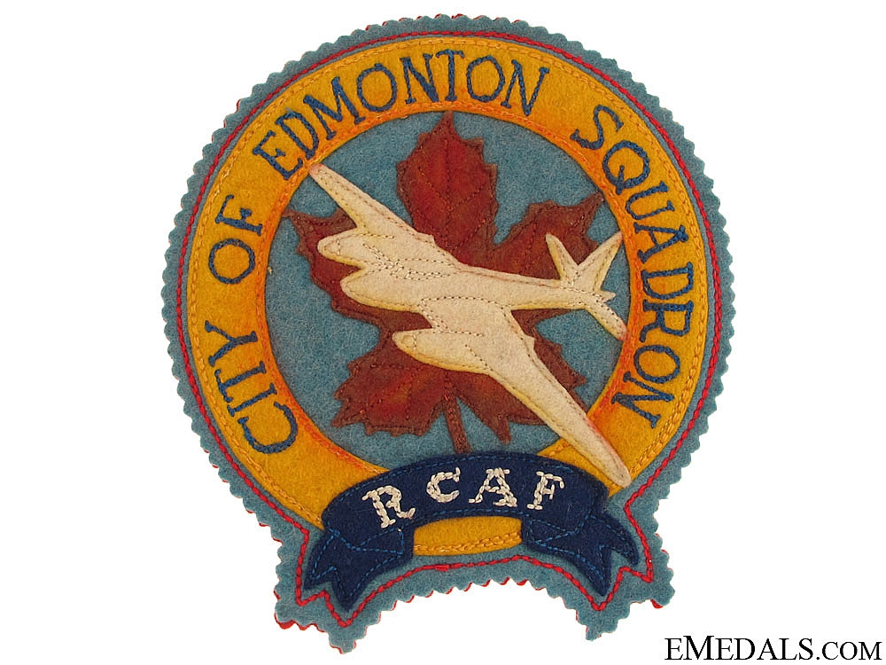 WWII RCAF City of Edmonton Squadron Patch