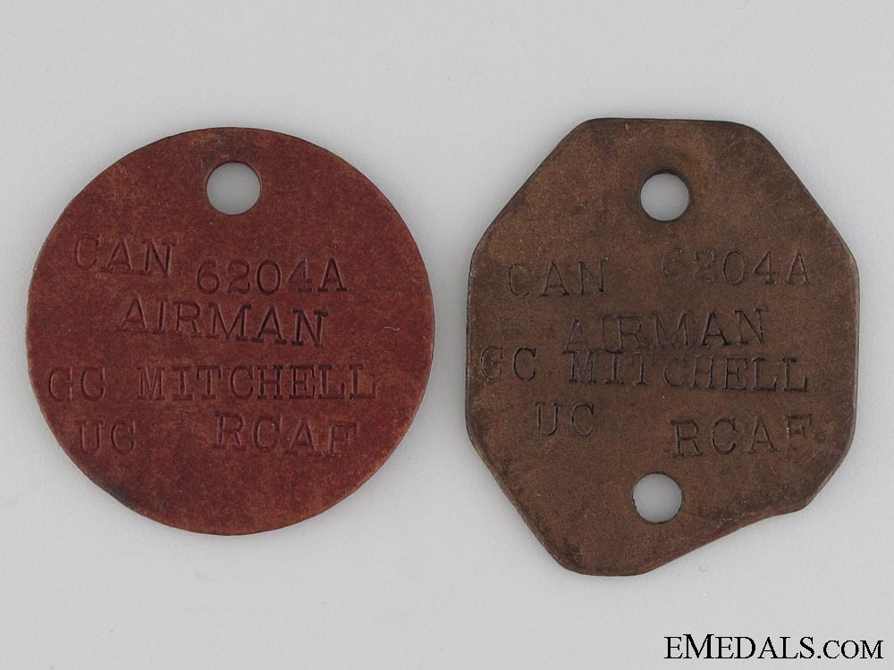 WWII RCAF ID Tags; Ju88 Casualty