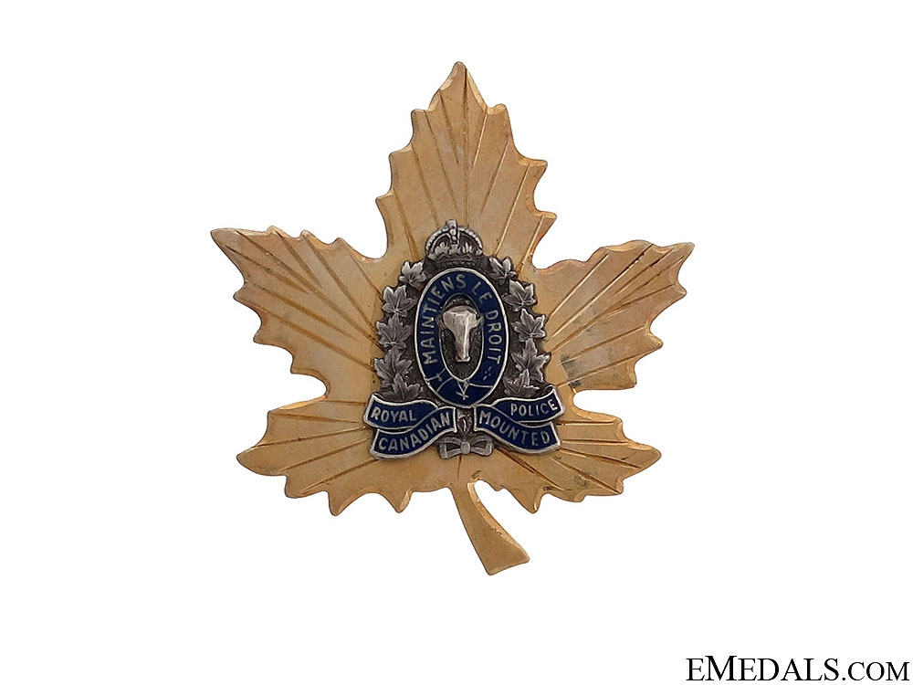 WWII Royal Canadian Mounted Police Sweetheart Pin