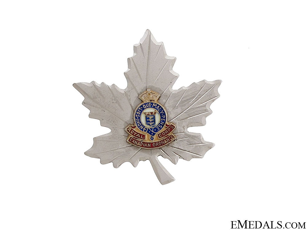 WWII Royal Canadian Ordnance Corps Sweetheart Pin