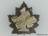 "7th Battalion ""1st British Columbia"" Cap Badge CEF"