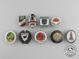 Nine First and Second War German Badges