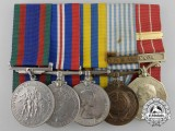 A Canadian Second & Korean War Medal Bar to Quarter Master Sergeant