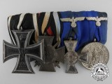 A First War Iron Cross & Army Long Service Medal Bar