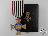 A Prussian Order of the Crown 1872-1874; 4th Class with Geneva Cross & Case