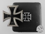 An Iron Cross First Class 1939; Round 3 Version with Case