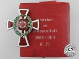 An Austrian Red Cross Officer's Decoration 1864-1914 with Case