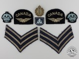 A Second War Royal Canadian Air Force Sergeant's Insignia Group