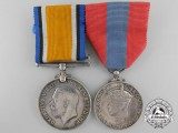 A First War Imperial Service Pair to Private Henry Cox, Royal Marine Light Infantry