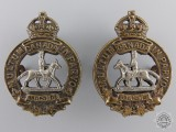 A 1920-36 Manitoba Horse Officer Collar Badges