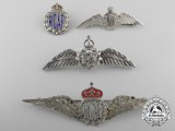 Four Second War Royal Canadian Air Force Wings