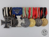 A First War & German Police Service Medal Bar