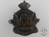 "A First War 164th Infantry Battalion ""Halton and Dufferin Battalion"" Cap Badge"