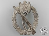 A Near Mint Tombac Infantry Assault Badge; Silver Grade