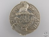 A 48th Highlanders of Canada (Toronto, ON) Glengarry Badge