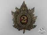 A Second Regiment Queen's Own Rifles Busby Badge