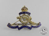 A First War Royal Artillery Pin in Gold