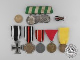 A Lot of Ten Austrian and German Imperial Medals, Awards, and Decorations