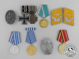 A Lot of Eight European Medals, Badges, and Decorations