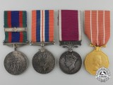 A Second War Canadian Medal Group to Captain G. Rhodes, Royal Canadian Artillery