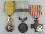 Three French Medals & Awards