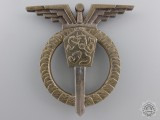 A Czechoslovakia Socialist Air Force Navigator Badge; 3rd Class