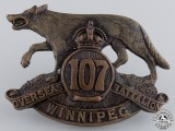 A First War 107th Infantry Canadian Battalion Cap Badge