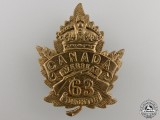 A First War 63rd Battalion Cap Badge