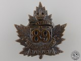 A First War 89th Battalion Cap Badge