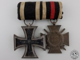 A First War Iron Cross Medal Pair; Sy-Wagner