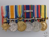 A First War Territorial Service Miniature Medal Group
