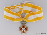 A Gold Spanish Order of Isabella the Catholic; Commander