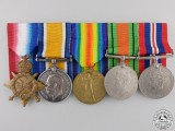 A Group of Five Awards to 2nd Lieutenant William McLeod RFA