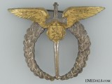 A Named WWII Czechoslovakian Pilot`s Badge
