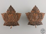 A Pair of 158th Battalion Duke of Connaught's Own CEF Collar Badges