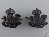 A Pair of Inter-War Royal Rifles of Canada Collar Badges