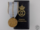 A Romanian Aeronautical Virtues Medal; First Class with Case