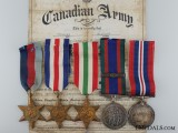 A Second War Canadian Medal Group to Trooper Percival Bright