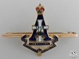 A Second War Princess of Wales's Own Yorkshire Regiment Pin in Gold