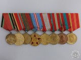A Second War Soviet Medal Bar of Eight Awards