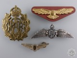 A Set of Four Royal Canadian Air Force Badges