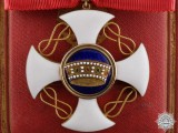 An Italian Order of the Crown in Gold; Commander's Cross