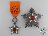 A Moroccan Order of Ouissam Alaouite; Grand Officer Set with Case