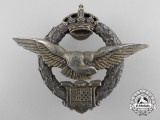 A Royal Yugoslavian Army Air Service Pilot's Badge by Karnet-Kisely
